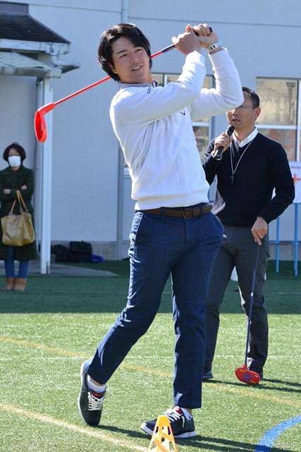 ゴルフの普及に向けて熱い思いを語った選手会長の石川遼
