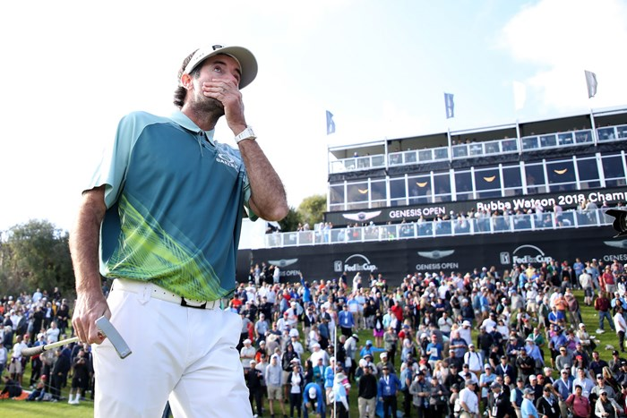 ワトソンは2年ぶりの勝利に目を赤くした(Christian Petersen/Getty Images 2018年 ジェネシスオープン 最終日 バッバ・ワトソン