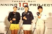2018年 ダイキンオーキッドレディスゴルフトーナメント 事前 (左から)福田真未、豊永志帆、篠原まりあ