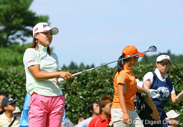 2006年 ミヤギテレビ杯ダンロップ女子オープンゴルフトーナメント 初日 横峯さくら チャンスを作れず波に乗れなかった初日の横峯さくら