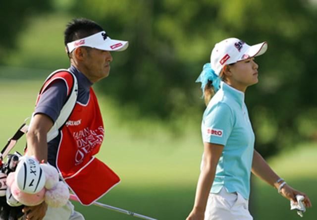 2006年 日本女子オープンゴルフ選手権競技 3日目 横峯さくら キャディが交代し迎えた3日目、順位を落としてしまった横峯さくら