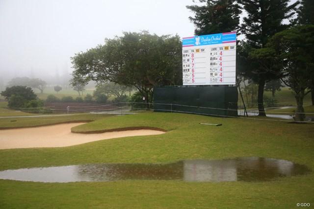 3日目は朝から強い雨と霧が発生してスタートができていない