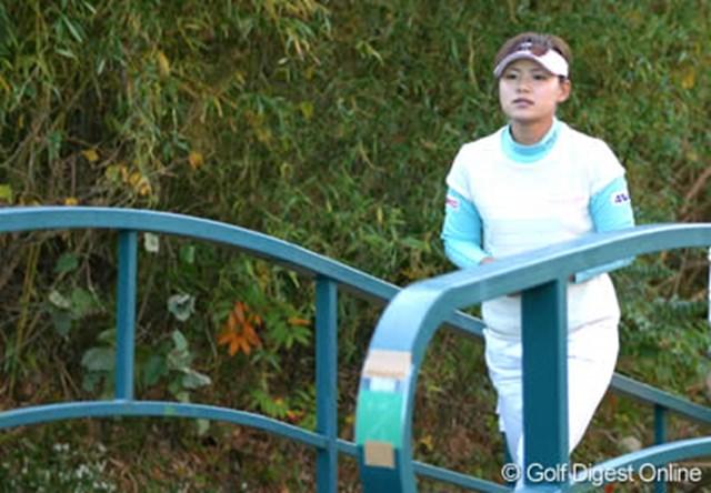 2006年 伊藤園レディスゴルフトーナメント 事前 横峯さくら 体調不良の横峯さくらだが、昨年の雪辱を誓う