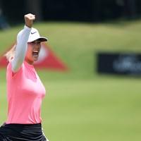 4季ぶりの優勝を挙げたウィ(Ross KinnairdGetty Images) 2018年 HSBC女子チャンピオンズ 最終日 ミッシェル・ウィ