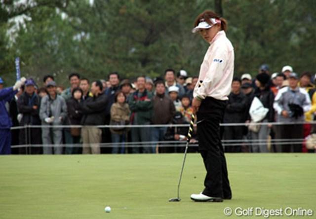 2006年 大王製紙エリエールレディスオープン 最終日 横峯さくら 18番、1.5mのパーパットを決めていればプレーオフだった横峯だが・・・