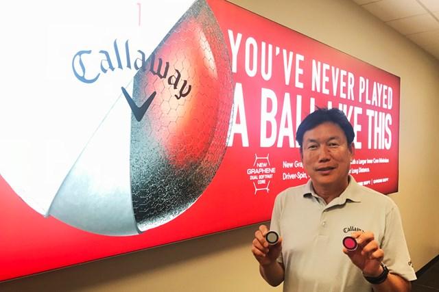 現在はキャロウェイゴルフでボール開発を担うロック石井氏