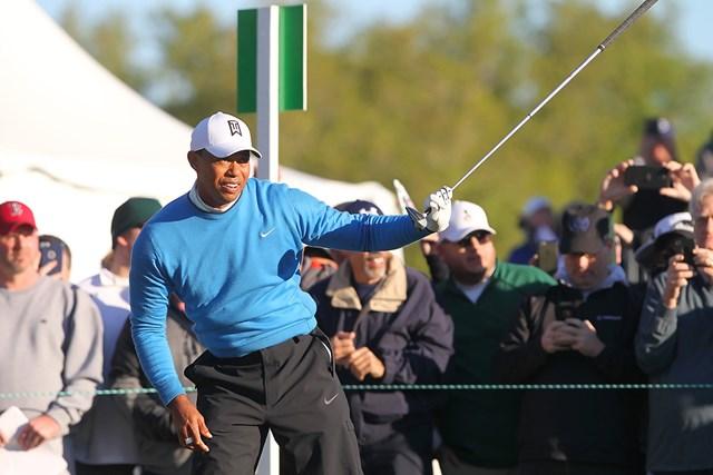 ウッズは上位で決勝ラウンドに進む(Cliff Welch/Icon Sportswire via Getty Images)
