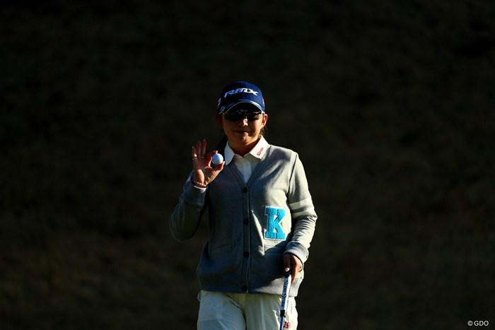 明日は上位争いに期待 2018年 ヨコハマタイヤゴルフトーナメント PRGRレディスカップ 2日目 江澤亜弥