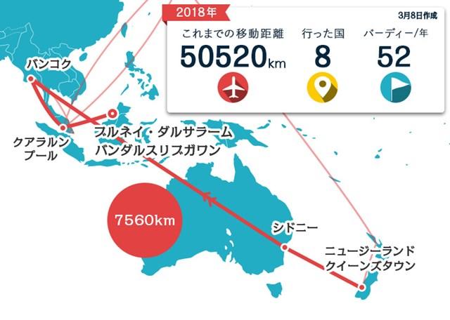 今週はニュージーランドからブルネイ。フライト遅延で1ストップ増えてしまい…