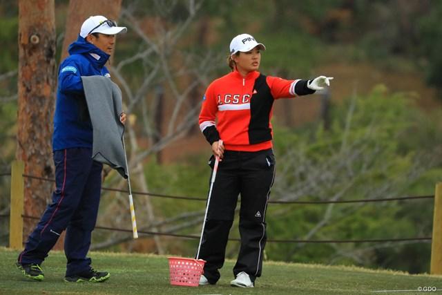 2018年 Tポイントレディス ゴルフトーナメント 初日 鈴木愛 鈴木愛は初日中止も調整に余念なし