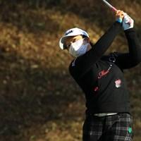 下川めぐみはマスク姿で36ホールをプレー 2018年 Tポイントレディス ゴルフトーナメント 最終日 下川めぐみ
