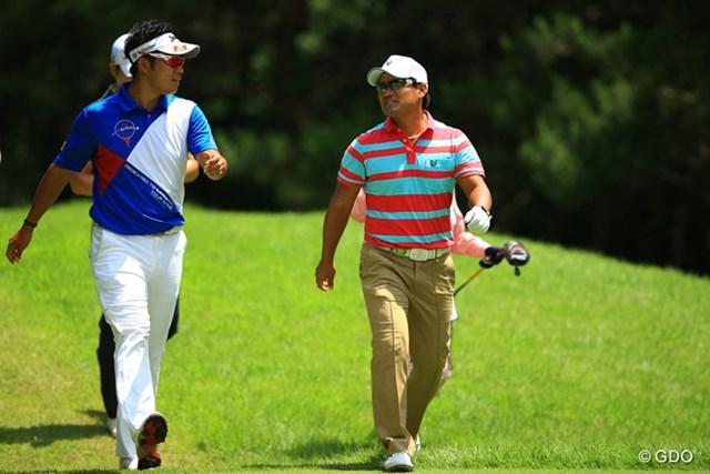 松山英樹と宮里優作が1回戦でガチ対決に※撮影は2013年「日本ゴルフツアー選手権」
