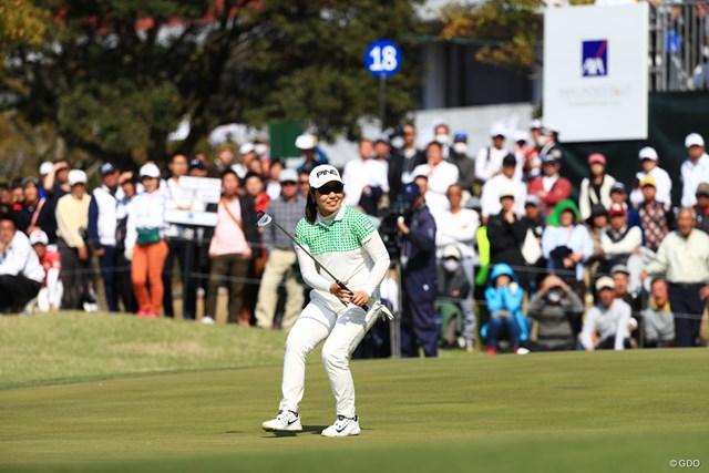 2018年 アクサレディスゴルフトーナメント in MIYAZAKI 最終日 比嘉真美子 プレーオフで惜敗した比嘉真美子。次週のリベンジを期する