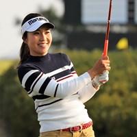 首位タイで発進した井上りこ※日本女子プロゴルフ協会提供 2018年 ラシンク・ニンジニア/RKBレディース 初日 井上りこ