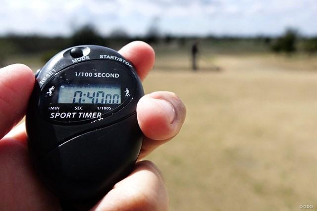 一打につき何秒? アマチュア100人のスロープレー対策 LPGAの計測法を参考に、ティショット & セカンドショットを測定