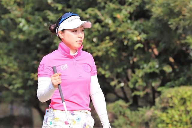 坂下莉翔子が自身初の首位発進を決めた(※日本女子プロゴルフ協会提供)