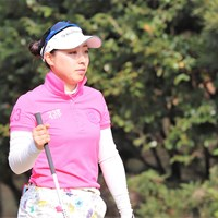 坂下莉翔子が自身初の首位発進を決めた(※日本女子プロゴルフ協会提供) 2018年 Hanasaka Ladies Yanmar Golf Tournament 初日 坂下莉翔子