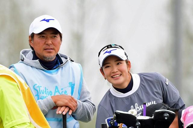 2018年 スタジオアリス女子オープン 2日目 原英莉花、尾崎智春 トモハルちゃん(Jはこう呼んでいます)のバックアップで予選通過。