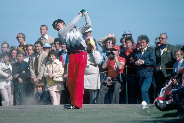 1978年 全英オープン 中嶋常幸 中嶋常幸は若きころからゴルフエリートだった。写真は1978年にセントアンドリュースで開催された全英オープンでのひとコマ(Phil Sheldon/Popperfoto/Getty Images)