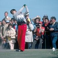 中嶋常幸は若きころからゴルフエリートだった。写真は1978年にセントアンドリュースで開催された全英オープンでのひとコマ(Phil Sheldon/Popperfoto/Getty Images) 1978年 全英オープン 中嶋常幸