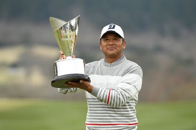 ディフェンディングチャンピオンは真板潔 ※画像は日本プロゴルフ協会提供