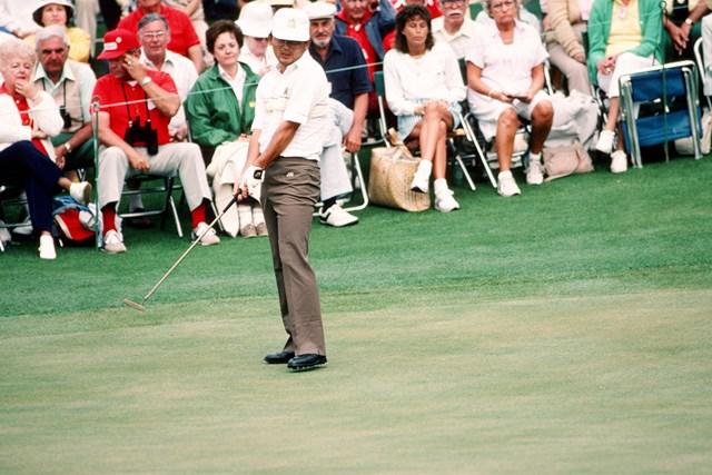 1986年の「マスターズ」では優勝争いを演じた(Augusta National/Getty Images)
