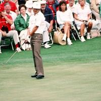 1986年の「マスターズ」では優勝争いを演じた(Augusta National/Getty Images) 1986年 マスターズ 中嶋常幸