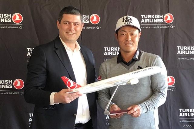 2018年 ターキッシュエアラインズオープン 事前 谷原秀人 谷原秀人がターキッシュエアラインズと専属スポンサー契約を締結した