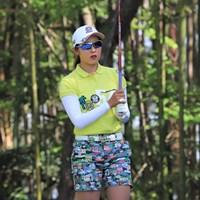首位で最終日を迎える高木萌衣※日本女子プロゴルフ協会提供 2018年 パナソニックオープンレディース 2日目 高木萌衣