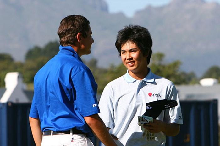 個人戦4位で日本チームを引っ張る宇佐美祐樹(写真提供/日本ゴルフ協会) 2006年 アイゼンハワートロフィー世界アマチュアゴルフチーム選手権 2日目 宇佐美祐樹