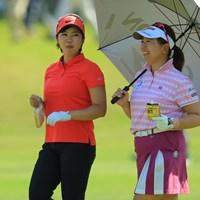 ゴルフはもぐもぐタイム率高いです。 2018年 フジサンケイレディスクラシック 2日目 葭葉ルミ 吉田弓美子