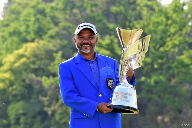 2018年 パナソニックオープンゴルフチャンピオンシップ 最終日 ラヒル・ガンジー 14年ぶりのアジアンツアー優勝を飾った39歳のラヒル・ガンジー