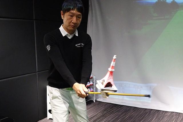 フェース面をわかりやすく東京タワーで表す