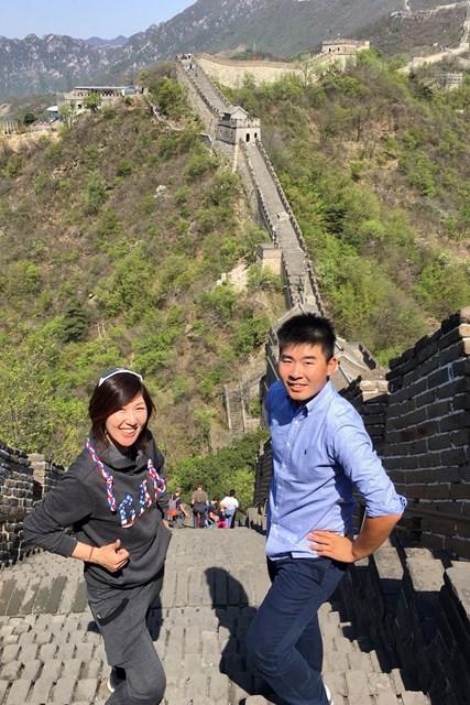 2018年 ボルボ中国オープン 事前 川村昌弘 ひろがる万里の長城! 今週はキャディの坂井恵さんと中国に来ました