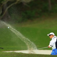 砂の飛び方が美しいなぁ。 2018年 サイバーエージェント レディスゴルフトーナメント 初日 飯島茜