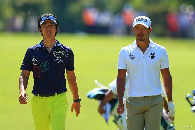 3日間同組でプレーした石川遼(左)と小平智。ムービングデーはいずれも順位を落とす結果に