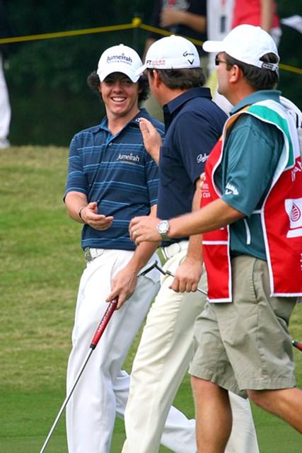 絶好調のアイルランドチーム。初出場のR.マキロイも楽しそうに笑顔、笑顔