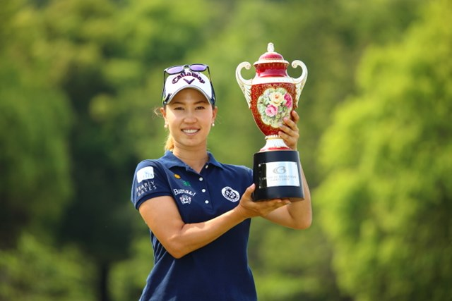 昨年大会で3シーズンぶりとなる勝利を飾った上田桃子