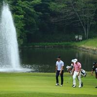 噴水の高さがきになる 2018年 関西オープンゴルフ選手権競技 初日 石川遼