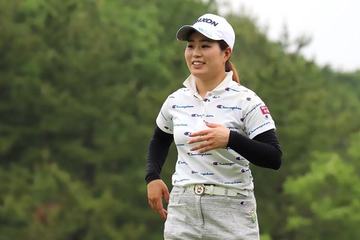 首位発進を切った澤井瞳(※日本女子プロゴルフ協会) 2018年 ツインフィールズレディーストーナメント 初日 澤井瞳