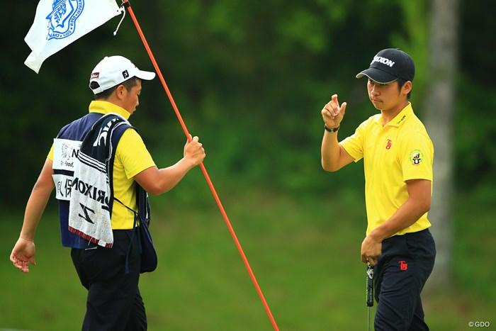 池田、ノリスに食らいつきナイスプレイだった 2018年 関西オープンゴルフ選手権競技 2日目 @久保田皓也