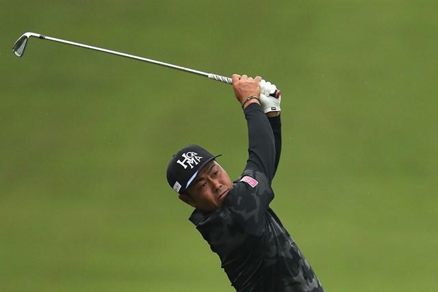 2018年 BMW PGA選手権 初日 谷原秀人 谷原秀人は首位と4打差の14位で発進した(Richard Heathcote/Getty Images)