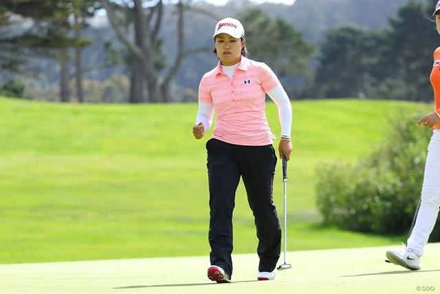 畑岡奈紗はイ・ミニョンらと同組になった(※撮影は「LPGAメディヒール選手権」)