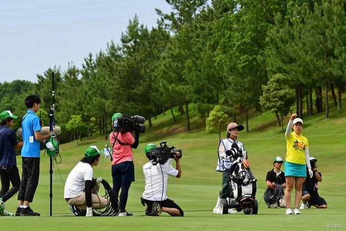 TVカメラ3台に囲まれるのは人生初思われ 2018年 リゾートトラスト レディス 2日目 小橋絵利子