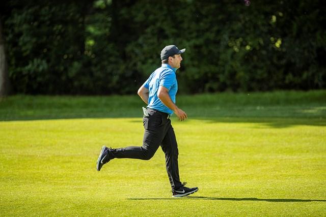 2018年 BMW PGA選手権 3日目 フランチェスコ・モリナリ 首位に並んだフランチェスコ・モリナリ(David Kissman/Action Plus via Getty Images)