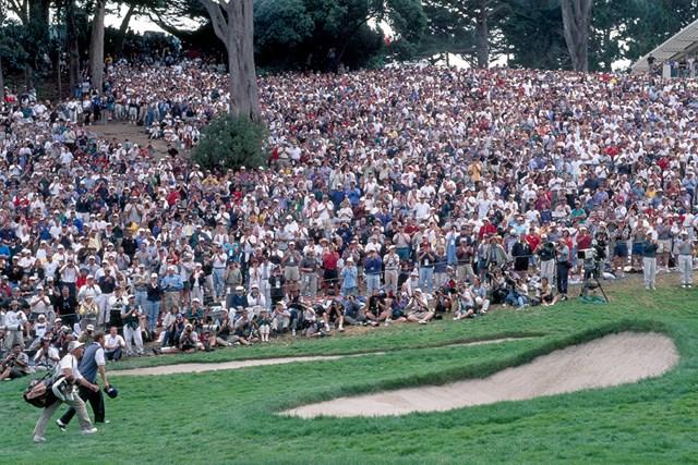 1998年 全米オープン 最終日 リー・ジャンセン 1998年「全米オープン」のセッティングは物議を醸した(Phil Sheldon/Popperfoto/Getty Images)