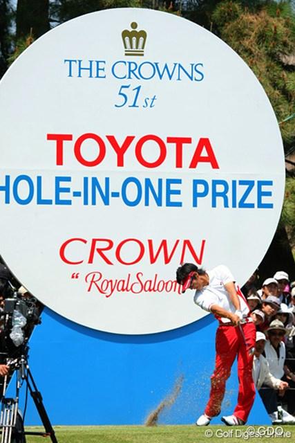 2010年 中日クラウンズ 最終日 石川遼 ホールインワンも出ちゃうんじゃないかと思わせる石川のティショット