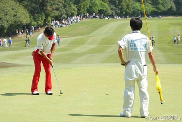 2010年 中日クラウンズ 最終日 石川遼 返しの1mのパットを沈めて連続バーディ!