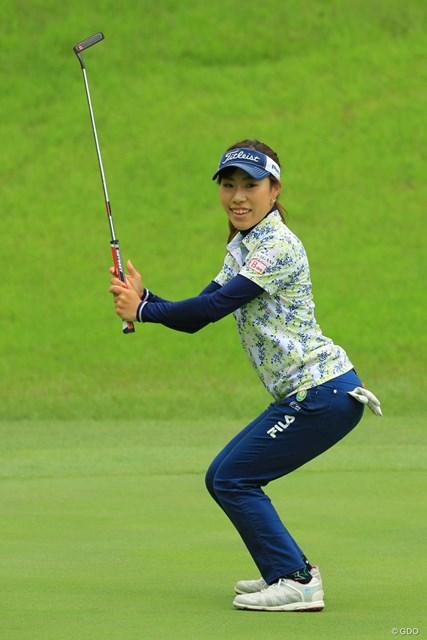 2018年 ヨネックスレディスゴルフトーナメント 初日 木村彩子 7位タイの好発進!なかなかのアクション女優かも。
