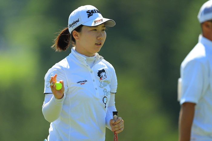 現役女子大生プロの石川明日香。首位と1打差で最終日を迎える 2018年 ヨネックスレディスゴルフトーナメント 2日目 石川明日香